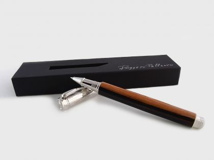 Duke rollerball pen in macassar ebony