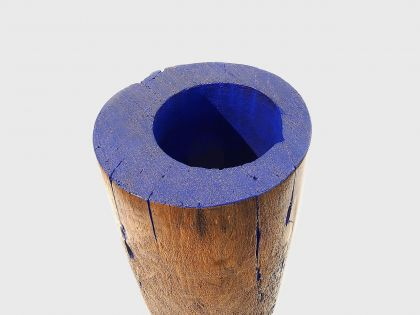 Vaso scultura DEEP-BLUE
