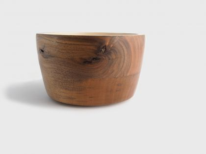 walnut bowl and lacquer
