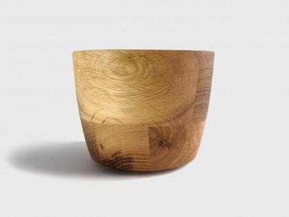 Segmented oak vase S1
