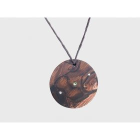 round walnut necklace