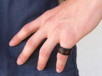 Padauk-ebony ring