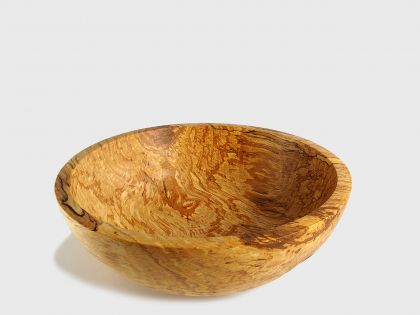 Spalted birch fruit bowl