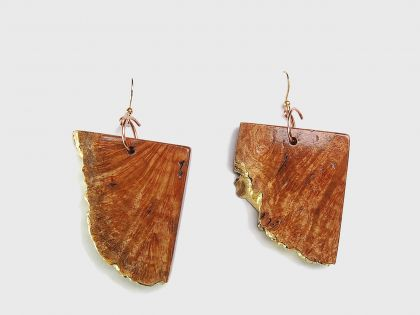 Burl pendant earrings R01