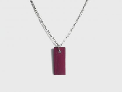 Flat necklace purpleheart