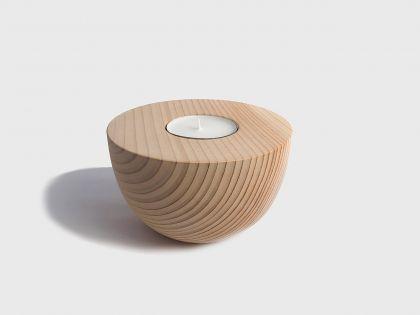 Candle-cup-cedar holder