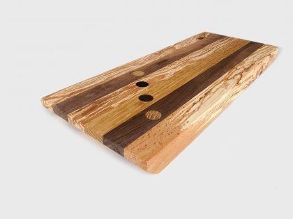 Tray-chopping board with diagonal dots