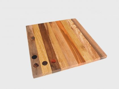 Square tray-chopping board with dots