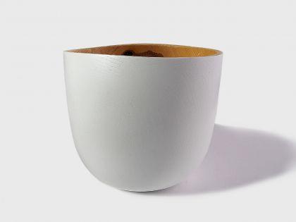 White ash vase
