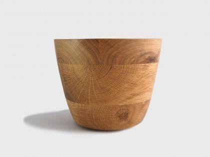Segmented oak vase S2